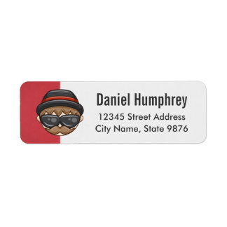 Cartoon Character Hipster Guy on Ruby Red Label