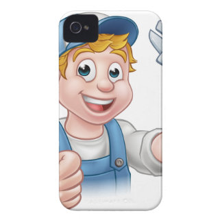 Cartoon Character Mechanic or Plumber Case-Mate iPhone 4 Case