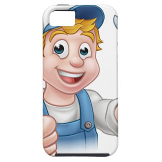 Cartoon Character Mechanic or Plumber iPhone SE/5/5s Case