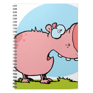 Cartoon Character Pig Looks Scared Notebook
