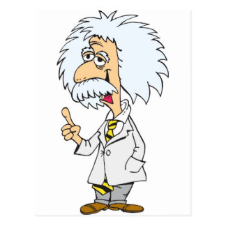 Cartoon character professor postcard