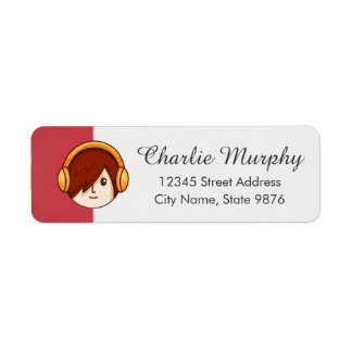 Cartoon Character Red Head Boy on Ruby Red Label