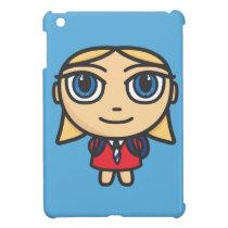 Cartoon Character School Girl iPad Mini Case