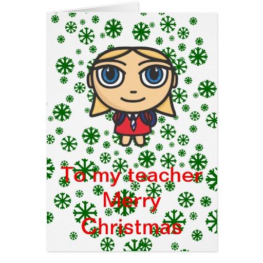 E Card Cartoon Characters : Cartoon character schoolgirl teacher greeting card zazzle