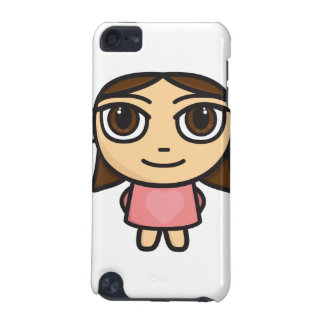 Cartoon Character with Pink Dress iPod Case