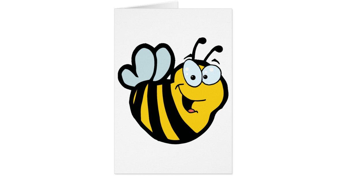 E Card Cartoon Characters : Cartoon characters bee card zazzle