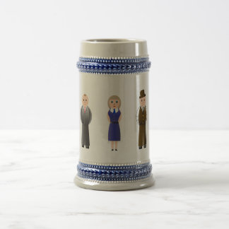 Cartoon characters drawn on the mug