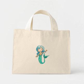 Cartoon Cheerful Mermaid Canvas Bags