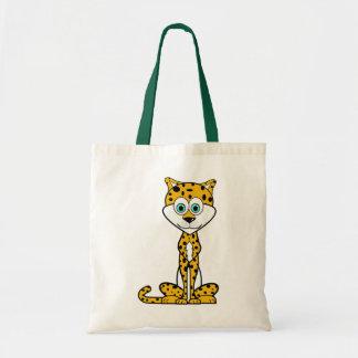 Cartoon Cheetah Budget Tote Bag