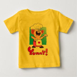 Cartoon Chef  | Funny Cartoon Pig Chef Baby T-Shirt
