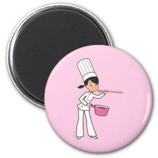 Cartoon Chef Girl Refrigerator Magnet