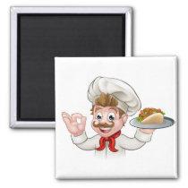Cartoon Chef Kebab Magnet