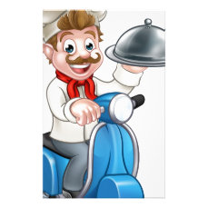 Cartoon Chef on Moped Scooter Stationery