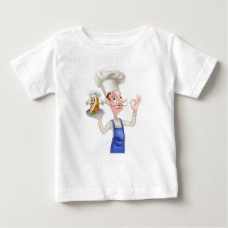 Cartoon Chef Perfect Kebab Mascot Baby T-Shirt