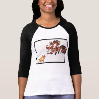 Cartoon chestnut team penning cow horse top