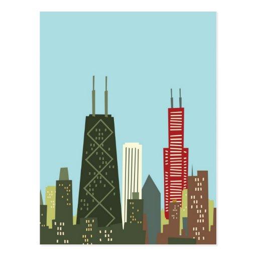 Cartoon Chicago Postcards