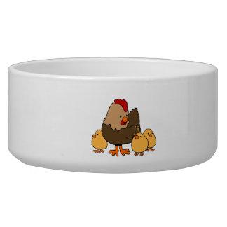 Cartoon Chicken and Baby Chicks Bowl