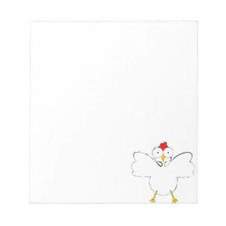 Cartoon chicken illustration notepad