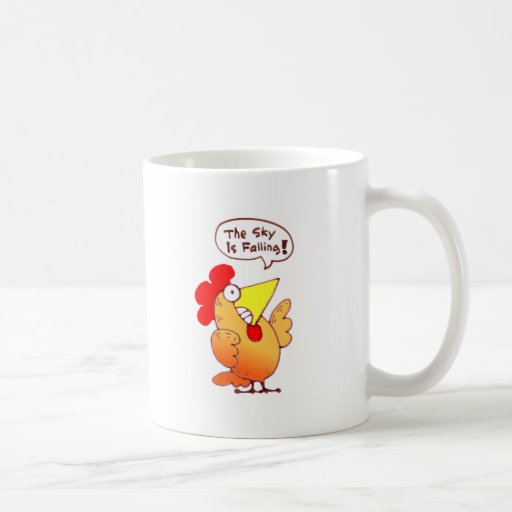 Cartoon Chicken Little Says The Sky Is Falling Classic White Coffee Mug