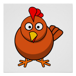 Cartoon Chicken Poster