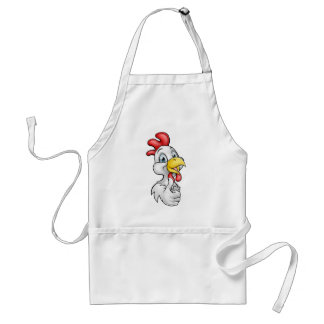 Cartoon Chicken Rooster Adult Apron