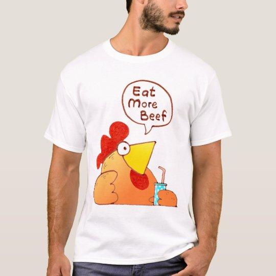 Cartoon Chicken Shirt | Chicken Eat Beef T Shirt