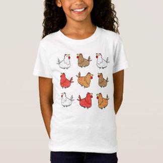 Cartoon Chickens - Kid's T-shirt