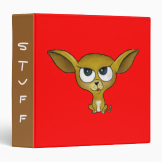 Cartoon Chihuahua Binder
