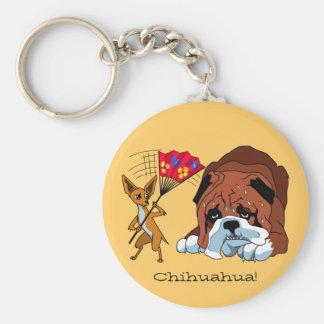 Cartoon Chihuahua Keychain