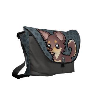 Cartoon Chihuahua (long coat) Courier Bag