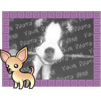 Cartoon Chihuahua Photo Frame (smooth coat) Statuette