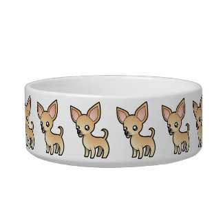 Cartoon Chihuahua (smooth coat) Bowl