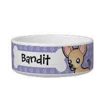 Cartoon Chihuahua (smooth coat) Bowl