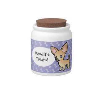 Cartoon Chihuahua (smooth coat) Candy Jar