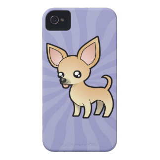 Cartoon Chihuahua (smooth coat) iPhone 4 Case-Mate Case