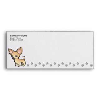 Cartoon Chihuahua (smooth coat) Envelopes