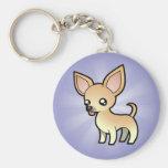 Cartoon Chihuahua (smooth coat) Key Chains