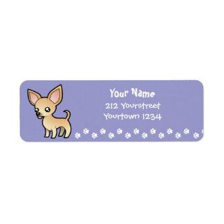 Cartoon Chihuahua (smooth coat) Label