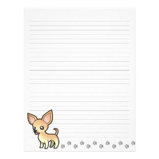 Cartoon Chihuahua (smooth coat) Letterhead