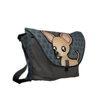Cartoon Chihuahua (smooth coat) Messenger Bag