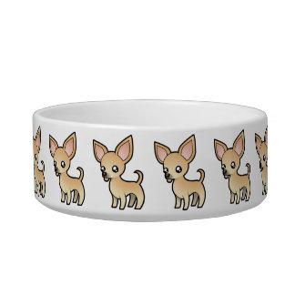 Cartoon Chihuahua (smooth coat) Pet Bowls