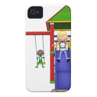 Cartoon Children at a Playground Case-Mate iPhone 4 Case