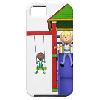 Cartoon Children at a Playground iPhone SE/5/5s Case