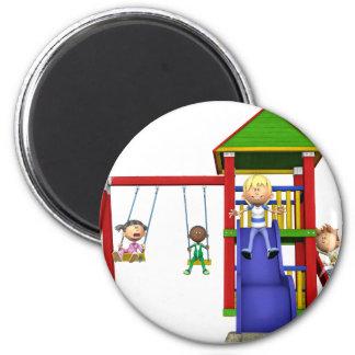 Cartoon Children at a Playground Magnet