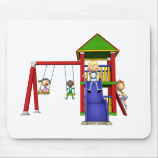 Cartoon Children at a Playground Mouse Pad