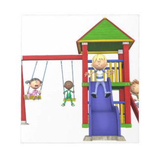 Cartoon Children at a Playground Notepad
