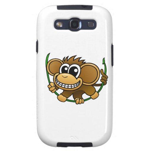 Cartoon Chimpanzee Galaxy S3 Covers