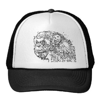 Cartoon Chimpanzee Trucker Hat