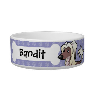 Cartoon Chinese Crested (hairless) Bowl