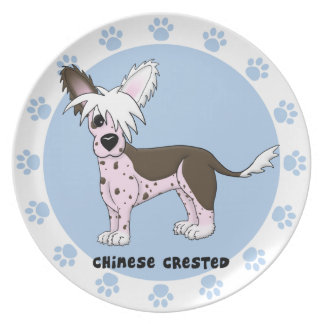 Cartoon Chinese Crested Plate